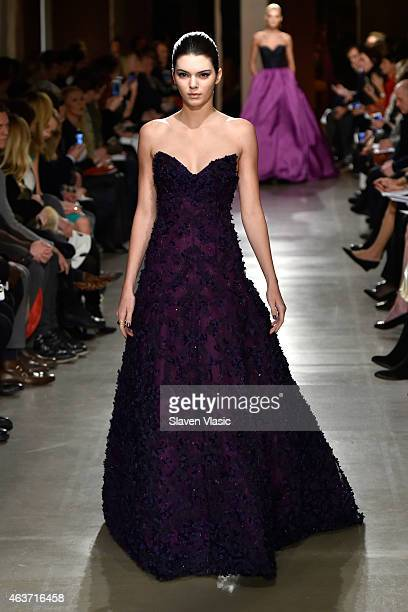 Model Kendall Jenner walks the runway at the Oscar De La Renta fashion show during MercedesBenz Fashion Week Fall 2015 on February 17 2015 in New...