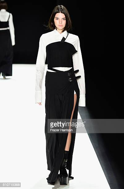 Model Kendall Jenner walks the runway wearing Vera Wang Collection Fall 2016 during New York Fashion Week The Shows at The Arc Skylight at Moynihan...