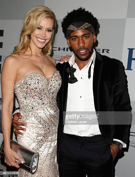 Model Kennedy Summers and actor Brandon Smith attend the NBCUniversal 2015 Golden Globe Awards Party sponsored by Chrysler at The Beverly Hilton...