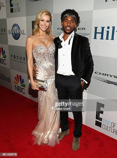 Model Kennedy Summers and actor Brandon Smith attend Universal NBC Focus Features and E Entertainment 2015 Golden Globe Awards After Party sponsored...
