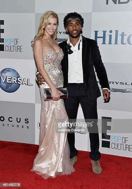 Model Kennedy Summers and Brandon Smith arrive at NBCUniversal's 72nd Annual Golden Globes After Party at The Beverly Hilton Hotel on January 11 2015...