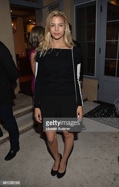Model Kenya Kinski attends a reception to celebrate Rashida Jones' New Glamour Column hosted by Cindi Leive and Jane Buckingham at arivate residence...