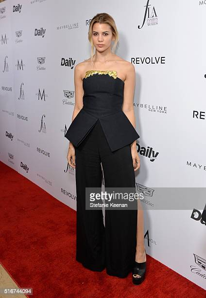 Model Kenya KinskiJones attends The Daily Front Row 'Fashion Los Angeles Awards' 2016 at Sunset Tower Hotel on March 20 2016 in West Hollywood...