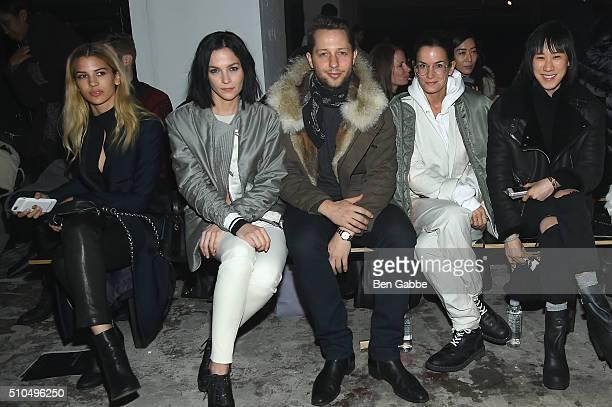 Model Kenya KinskiJones DJ Leigh Lezark writer Derek Blasberg Gavin Brown's Enterprise Director Lucy Chadwick and Eva Chen attend the rag bone Fall...