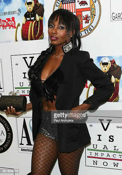 Model Keturah Hamilton attends the 16th annual Hollywood Celebrity Toy Drive Extravaganza on December 17 2015 in Los Angeles California