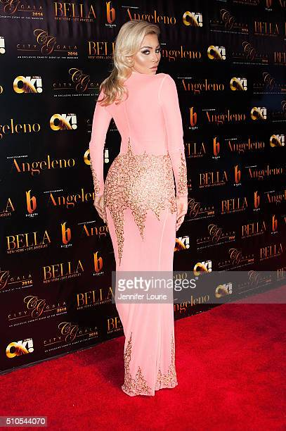Model Khloe Terae arrives at the 2016 City Gala Fundraiser at The Playboy Mansion on February 15 2016 in Los Angeles California