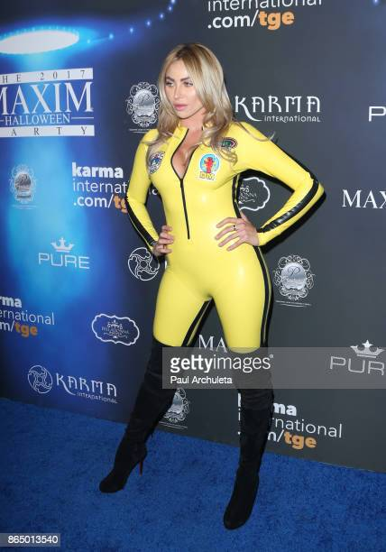 Model Khloe Terae attends the 2017 Maxim Halloween party at Los Angeles Center Studios on October 21 2017 in Los Angeles California