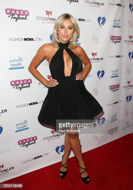 Model Khloe Terae attends the 3rd Annual Babes In Toyland Support Our Troops Gala benefiting For The Troops at Bardot on July 19 2018 in Hollywood...
