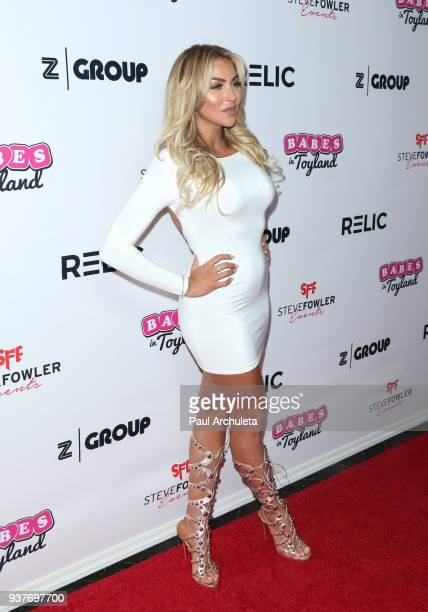 Model Khloe Terae attends the 4th annual 'Babes In Toyland' Pet Gala benefiting 'Operation Blankets Of Love' at Avalon on March 21 2018 in Hollywood...