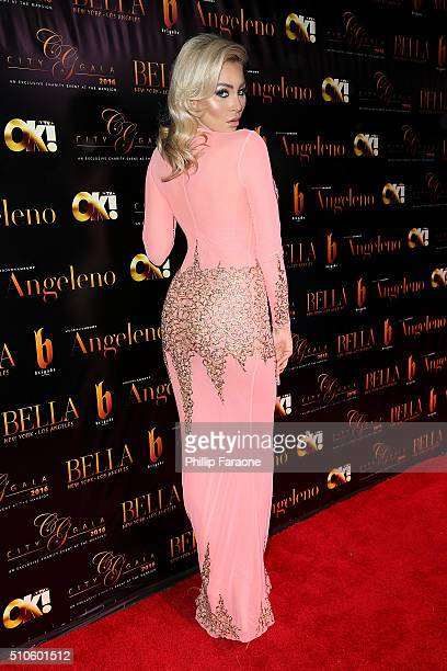Model Khloe Terae attends the City Gala Fundraiser 2016 at The Playboy Mansion on February 15 2016 in Los Angeles California