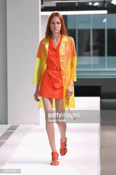 Model Kiki Willems walks the runway at the Sies Marjan show during New York Fashion Week on September 9 2018 in New York City