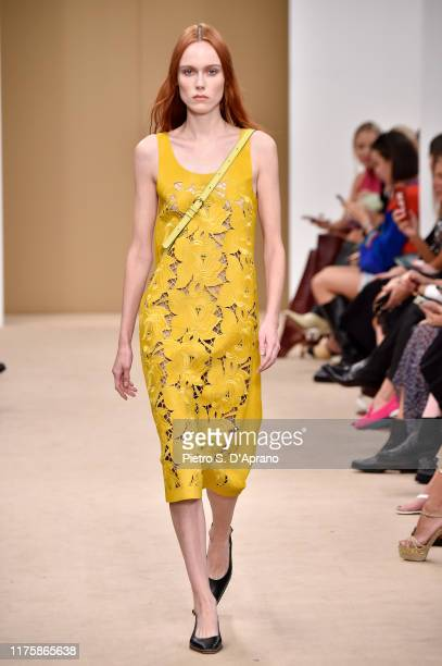 Model Kiki Willems walks the runway at the Tod's show during the Milan Fashion Week Spring/Summer 2020 on September 20, 2019 in Milan, Italy.