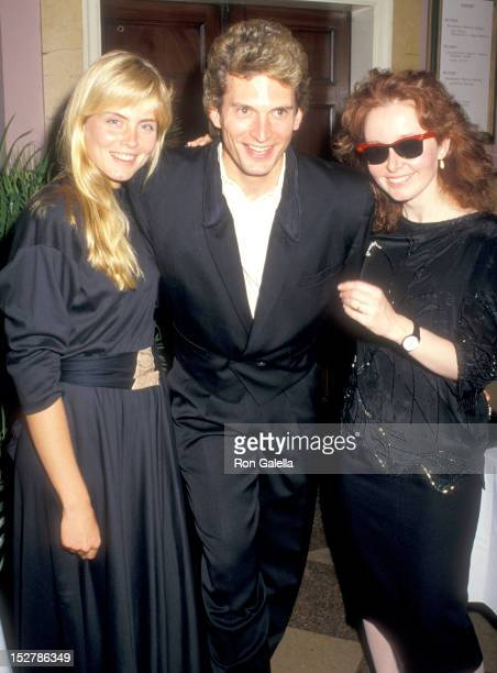 Model Kim Alexis Actor Rex Smith and Actress Kate Burton attend the Roundabout Theatre Company's Annual Gourmet Gala on May 11 1987 at Roundabout...