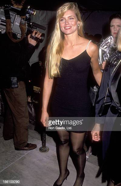 Model Kim Alexis attends the 100th Anniversary Celebration of Vogue Magazine on April 2 1992 at New York Public Library in New York City New York