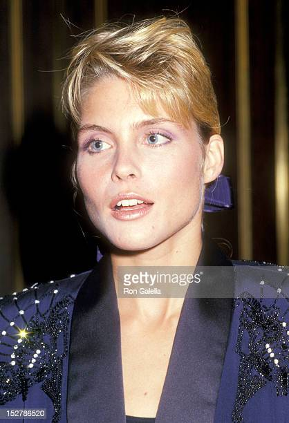 Model Kim Alexis attends The National Academy of Television Arts and Sciences 1987 Sports Emmy Awards on September 29 1987 at the Sheraton Centre...