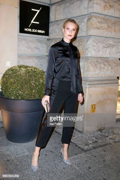 Model Kim Hnizdo during the Bunte New Faces Night at Grace Hotel Zoo on July 2 2018 in Berlin Germany
