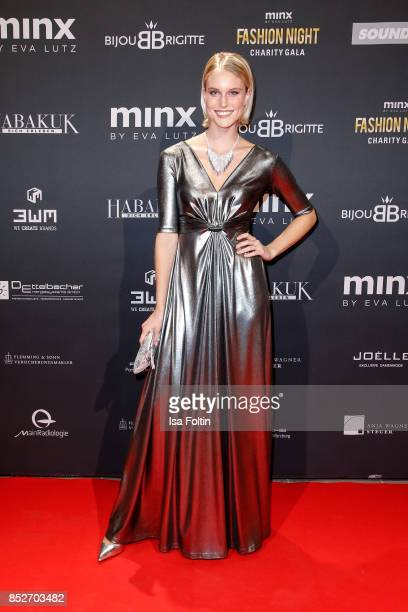 Model Kim Hnizdo during the Minx Fashion Night in favour of 'Sauti Kuu' of Auma Obama at Wuerzburger Residenz on September 23 2017 in Wuerzburg...