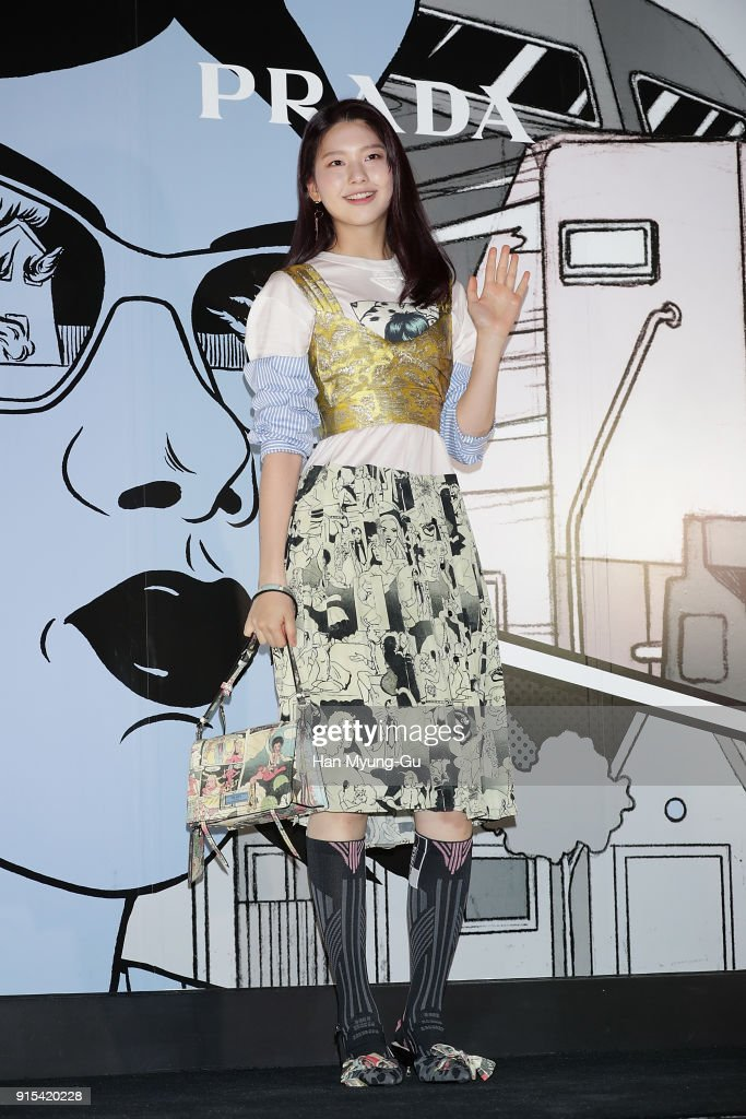 Model Kim Jin-Kyung attends the photocall for the 'PRADA' on February 7, 2018 in Seoul, South Korea.