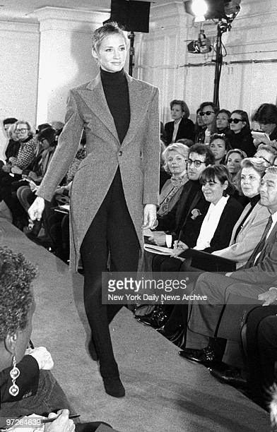 Model Kim Nye during Ralph Lauren fashion show