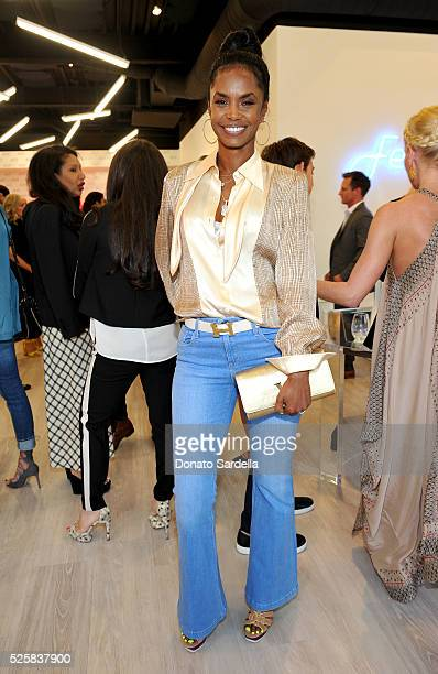 Model Kim Porter attends the opening of the Alexandra Von Furstenberg Los Angeles flagship store on April 28 2016 in West Hollywood California