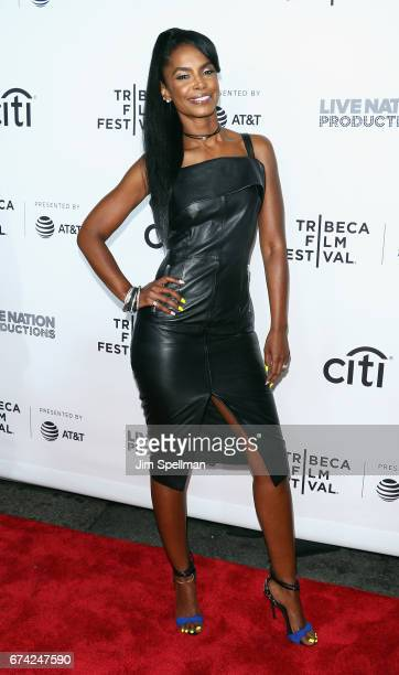 Model Kim Porter attends the world premiere of 'Can't Stop Won't Stop A Bad Boy Story' cosupported by Deleon Tequila during the 2017 Tribeca Film...