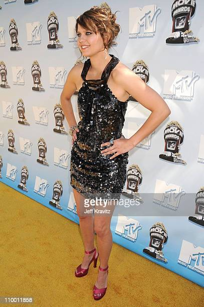 Model Kim Stolz arrives to the 2008 MTV Movie Awards at the Gibson Amphitheatre on June 1, 2008 in Universal City, California.