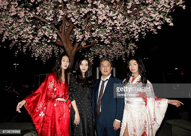 Model Kim TaeRi Park Chanwook and Model attend the premiere of Amazon Studios 'The Handmaiden' at ArcLight Hollywood on September 27 2016 in...