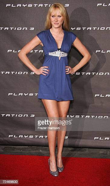 Model Kimberly Stewart daughter of Rod Steward arrives at the Launch Party For Sony Computer Entertainment America Playstation 3 held on November...