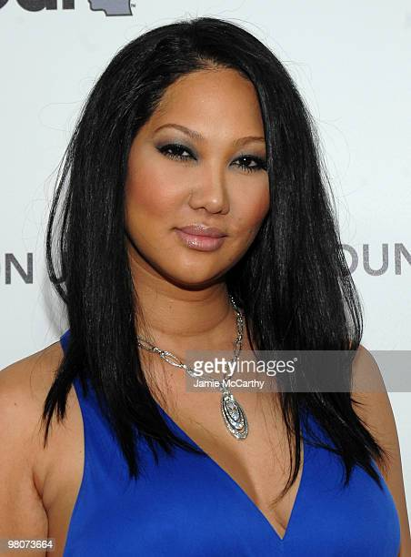 Model Kimora Lee Simmons arrives at the 18th Annual Elton John AIDS Foundation Oscar party held at Pacific Design Center on March 7 2010 in West...