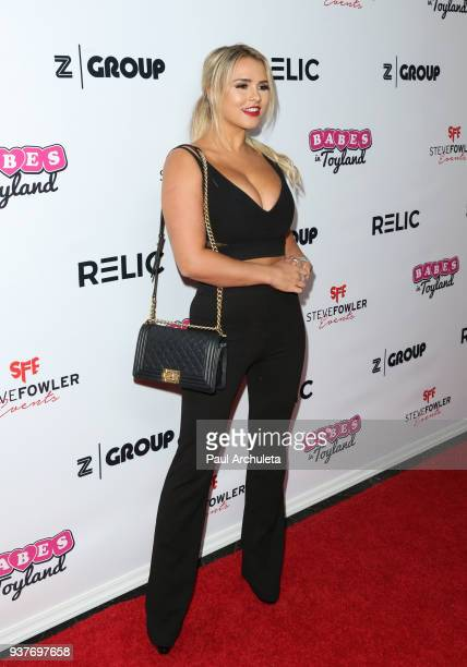 Model Kinsey Wolanski attends the 4th annual 'Babes In Toyland' Pet Gala benefiting 'Operation Blankets Of Love' at Avalon on March 21 2018 in...