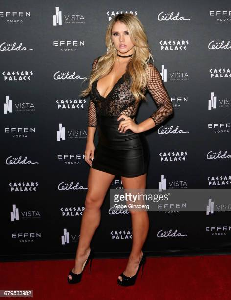 Model Kinsey Wolanski attends The Art Of Gilda Garza Te Amo Mexico presented by Playboy Mexico at the Vista Lounge at Caesars Palace on May 5 2017 in...