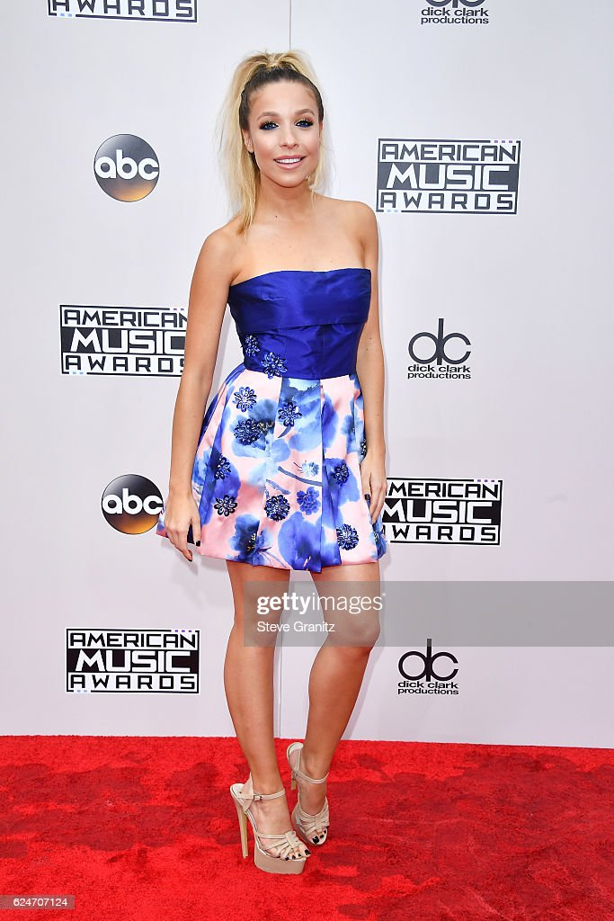 Model Kira Kazantsev attends the 2016 American Music Awards at Microsoft Theater on November 20, 2016 in Los Angeles, California.
