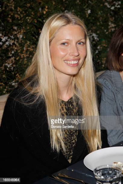 Model Kirsty Hume attends Vogue's Triple Threats dinner hosted by Sally Singer and Lisa Love at Goldie's on April 3 2013 in Los Angeles California