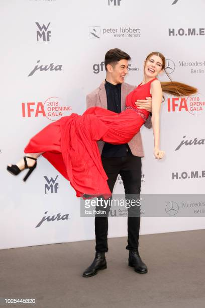Model Klaudia Giez and her boyfriend Felipe Simon attend the IFA 2018 opening gala on August 31 2018 in Berlin Germany