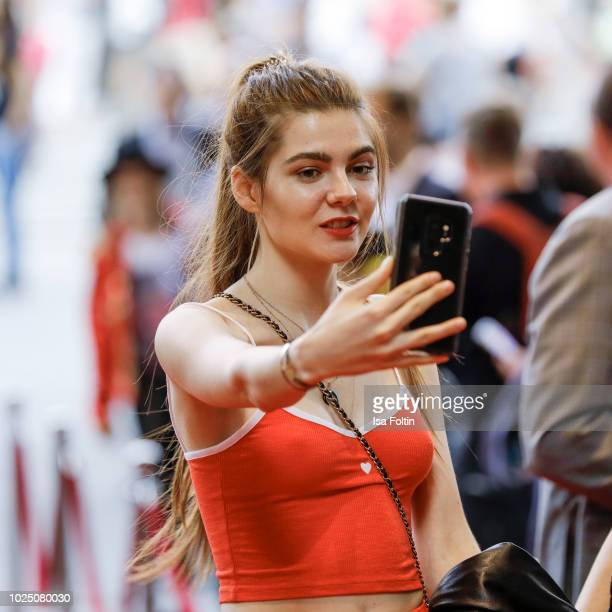 Model Klaudia Giez GNTM during the musical premiere of 'BEAT IT Die Show ueber den King of Pop' at Stage Theater am Potsdamer Platz on August 29 2018...