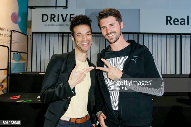 Model Kris Jobson and German presenter and actor Thore Schoelermann during the discussion panel of Clich'e Bashing 'soziale Netzwerke Real vs...