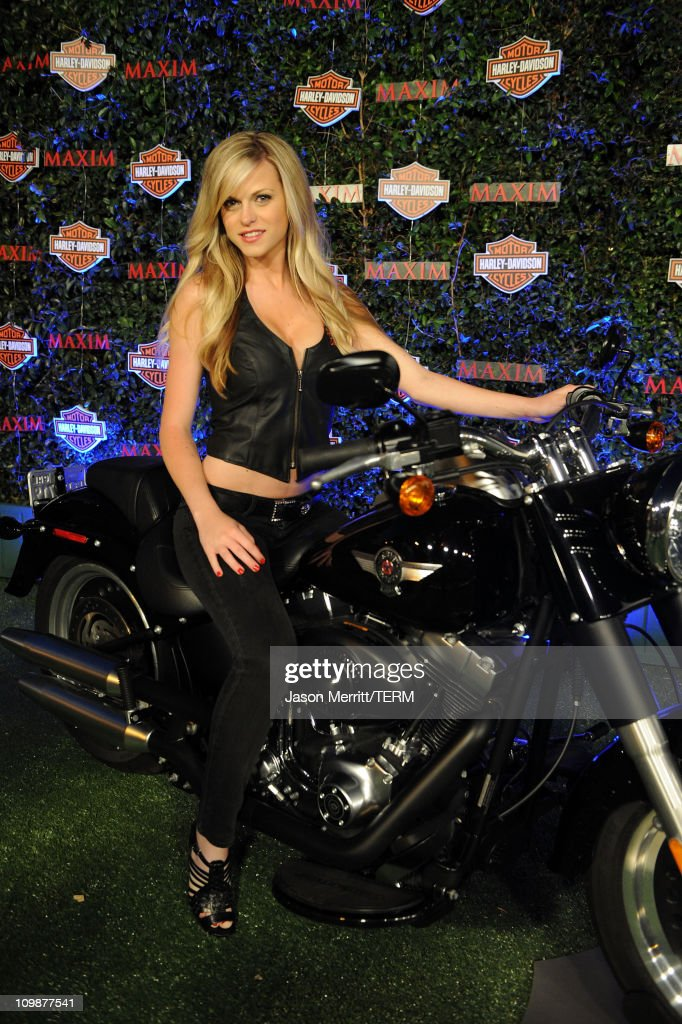 Model Kristin Gustafson attends the 11th annual Maxim Hot 100 Party with Harley-Davidson, ABSOLUT VODKA, Ed Hardy Fragrances, and ROGAINE held at Paramount Studios on May 19, 2010 in Los Angeles, California.