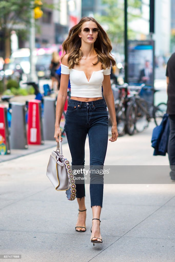 Model Kristina Romanova attends call backs for the 2017 Victoria's Secret Fashion Show in Midtown on August 22, 2017 in New York City.