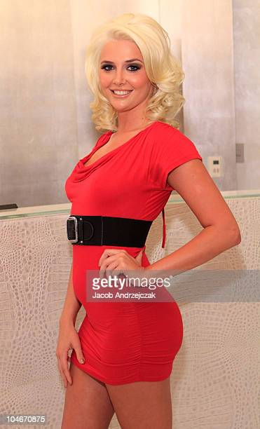 Model Kristina Shannon gets ready to celebrate her birthday with a spa night at Michael Boychucks Color Salon at Caesars Palace on October 2 2010 in...