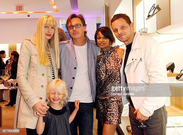 Model Kristy Hume actor and musician Donovan Leitch and daughter Keisha Chambers and actor Justin Chambers attend the Ferragamo event with Debi Mazar...