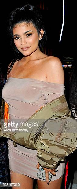 Model Kylie Jenner attends Boohoo X Jordyn Woods Fashion Event at NeueHouse Hollywood on August 31 2016 in Los Angeles California