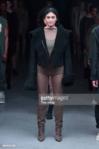 Model Kylie Jenner walks the runway at the adidas Originals x Kanye West YEEZY SEASON 1 fashion show during New York Fashion Week Fall 2015 at...