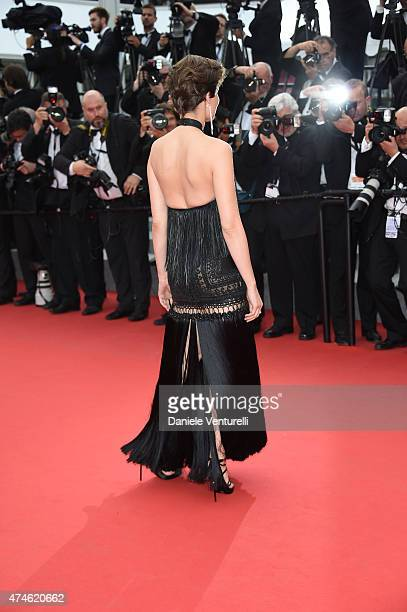 Model Laetitia Casta attends the closing ceremony and 'Le Glace Et Le Ciel' Premiere during the 68th annual Cannes Film Festival on May 24 2015 in...