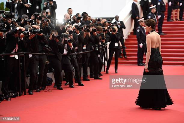 Model Laetitia Casta attends the closing ceremony and Premiere of 'La Glace Et Le Ciel' during the 68th annual Cannes Film Festival on May 24 2015 in...