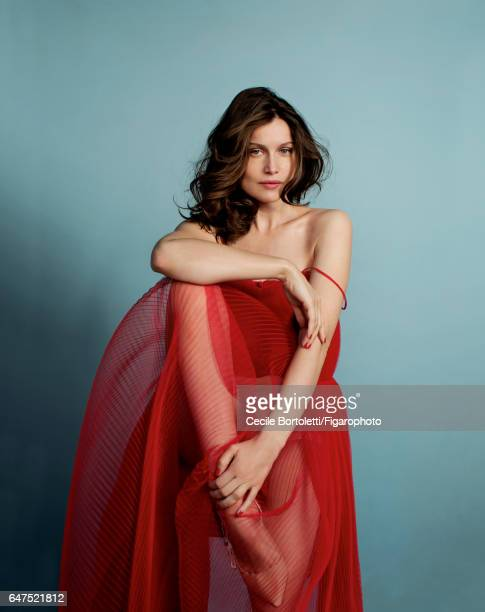 Model Laetitia Casta is photographed for Madame Figaro on January 12 2017 in Paris France Dress lingerie and shoes Makeup by Dior COVER IMAGE CREDIT...