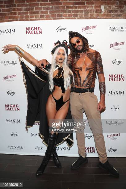 Model Lais Ribeiro and Joakim Noah attend Stillhouse's Night of the Fallen Halloween Party Presented by Maxim Experiences and Velocity Black at...