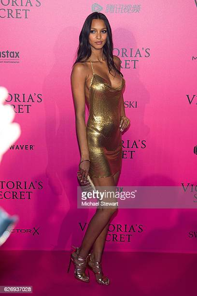 Model Lais Ribeiro attends the 2016 Victoria's Secret Fashion Show after party at Le Grand Palais on November 30 2016 in Paris France