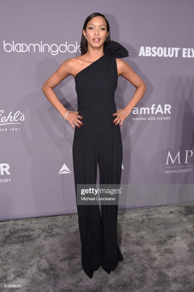 Model Lais Ribeiro attends the 2018 amfAR Gala New York at Cipriani Wall Street on February 7, 2018 in New York City.