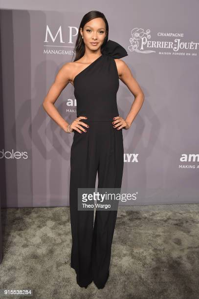 Model Lais Ribeiro attends the 2018 amfAR Gala New York at Cipriani Wall Street on February 7 2018 in New York City