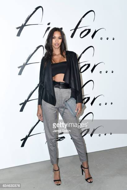 Model Lais Ribeiro attends the F Is For Fendi Launch Party at Seaport District NYC on February 10 2017 in New York City